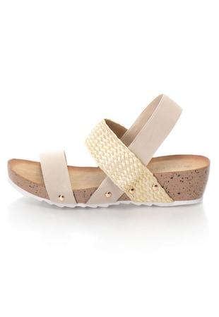 Дамски сандали  Текстилни/Еко кожа, Еластични каишки