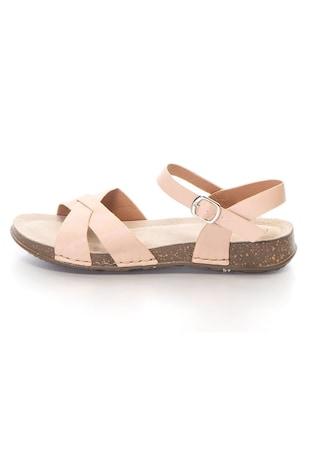 Дамски сандали  Кръстосани каишки, Еко кожа, Интериор от естествена кожа