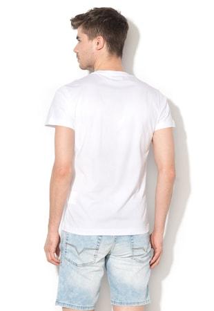 833c0290eb Slim fit póló grafikai mintával Slim fit póló grafikai mintával
