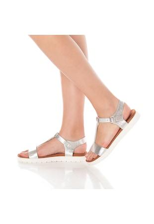 Дамски сандали  Еко кожа отвън/Естествена кожа отвътре