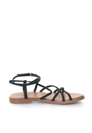 Дамски сандали  Ниска подметка, Тънки каишки, Еко кожа