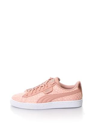 Basket sneakers cipő bőr anyagbetétekkel ... 6ae44caae7