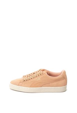 Classic nyersbőr sneakers cipő fémrészletekkel ... 38b22f4e04