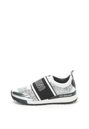 Bebújós sneakers cipő csillámos anyagbetétekkel ... d65dba646f