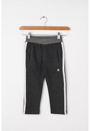 23161624c Pantaloni cu garnituri tubulare contrastante ...