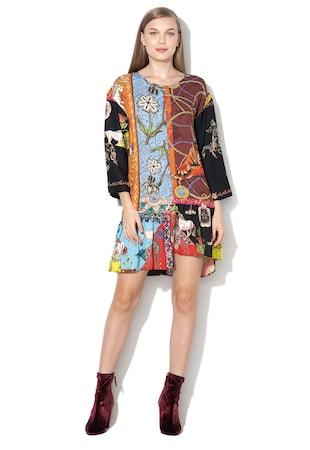 2e15f483ad Yaiza mintás ruha aszimmetrikus alsó szegéllyel ...