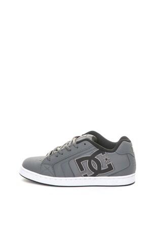 Net bőr és műbőr sneakers cipő hímzett logóval ... 10d9096f16
