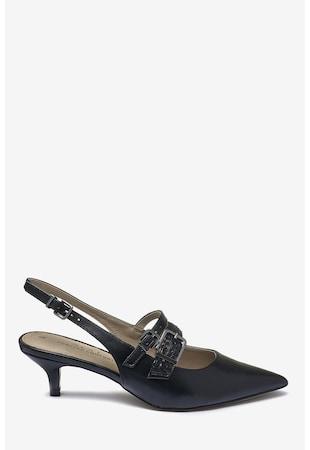 6d20b14326 ... Sarokpántos törpesarkú cipő dekoratív pántokkal ...