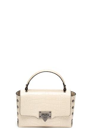 1eba7a051dfd Bőr keresztpántos táska krokodilbőr hatású mintával ...