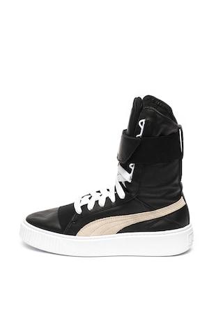 9e7567c633da Magas szárú bőr sneaker nyersbőr szegélyekkel ...