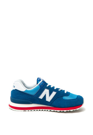 Pantofi sport de piele intoarsa si plasa 574