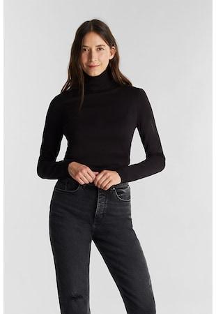 Finomkötött garbónyakú pulóver