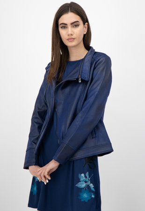 Desigual kék műbőr kabát Vigo Női Kabátok, Dzsekik