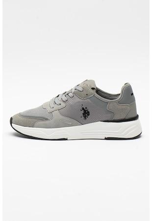 Larke sneaker nyersbőr hatású és hálós anyagú részletekkel