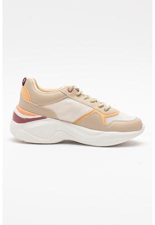 Pantofi sport din piele ecologica cu accente cu model colorblock Mercy
