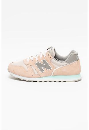Pantofi sport din piele intoarsa cu model colorblock 373