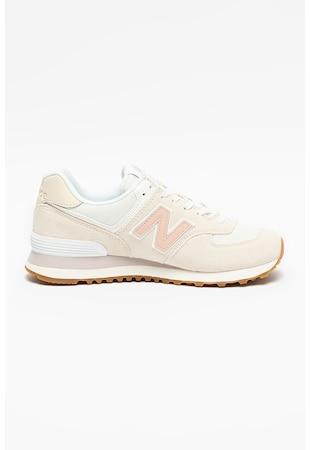 Pantofi sport din piele intoarsa cu insertii din plasa 574