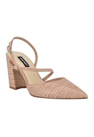 Pantofi cu varf ascutit si aspect de piele de crocodil Cache