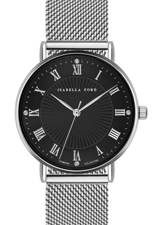 Кварцов часовник с 4 диаманта
