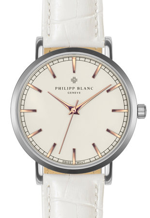 Унисекс часовник с релефна кожена каишка