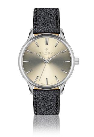 Унисекс часовник с кожена каишка