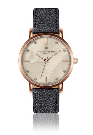 Часовник с кристали и седефен циферблат