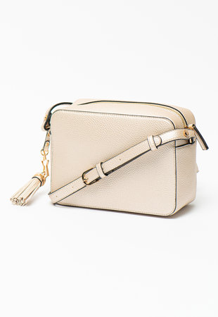 Чанта през рамо от еко кожа с лого
