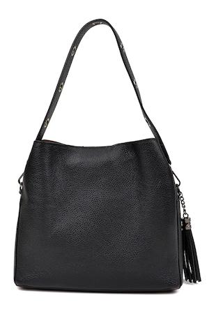 Чанта за рамо от телешка кожа с отделяща се презрамка