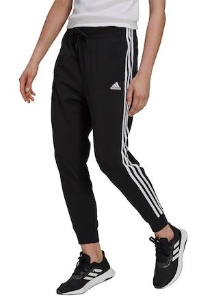 Pantaloni cu talie elastica si logo
