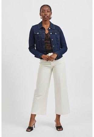 Jacheta regular fit din denim cu buzunare pe piept