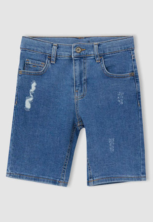 Pantaloni scurti de denim cu detalii cu aspect deteriorat
