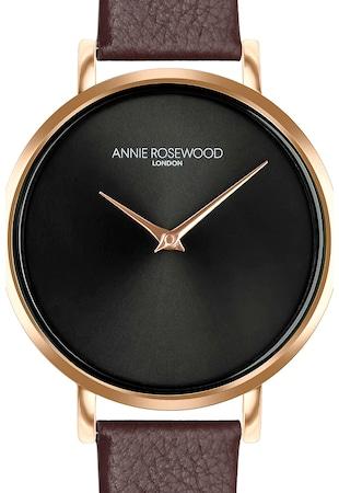 Кварцов часовник с кожена каишка и лого на циферблата