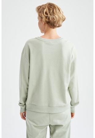 Kerek nyakú pulóver bordázott alsó szegéllyel