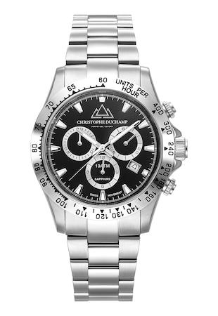 Часовник с хронограф и метална верижка