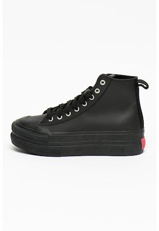 Pantofi sport flatform high-top de piele S-Jomua