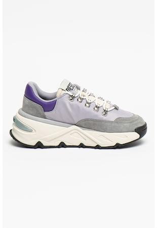 Pantofi sport wedge cu detalii de piele intoarsa S-Herby