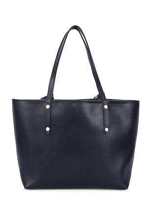 Двулицева шопинг чанта от еко кожа с несесер