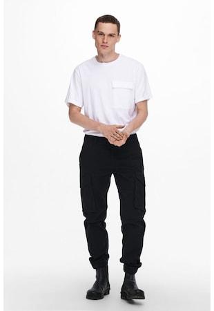 Pantaloni cargo din amestec de bumbac