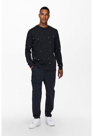 Bluza sport cu imprimeu cu pete decorative