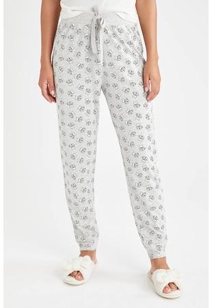 Pijama din amestec de bumbac cu imprimeu grafic