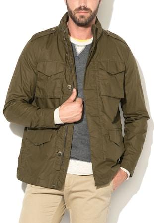 ... Katonai Zöld Vékony Kabát Elcsomagolható Kapucnival ... 7444927e06