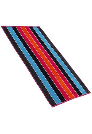 Плажна кърпа  90x170 cм, Ивици, Многоцветна