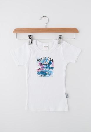 Детска бяла тениска с щампа