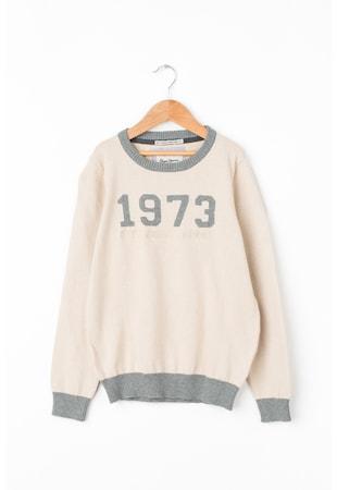 Пуловер Abner с текстова шарка