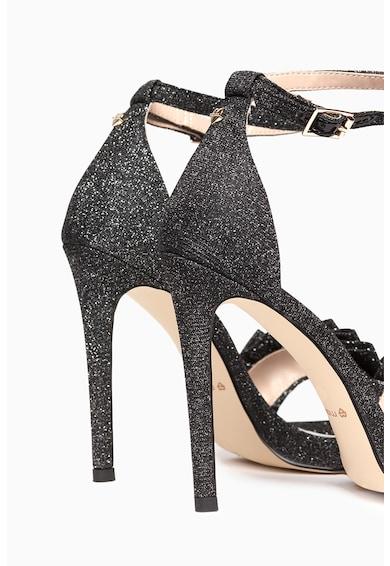 Motivi Sandale cu toc inalt si insertii de fire stralucitoare Femei