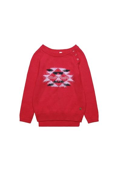 Esprit Пуловер с асиметричен подгъв и цепка с копчета на рамото Момичета
