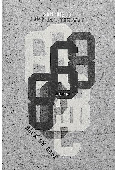 Esprit Bluza sport texturata cu model text Baieti