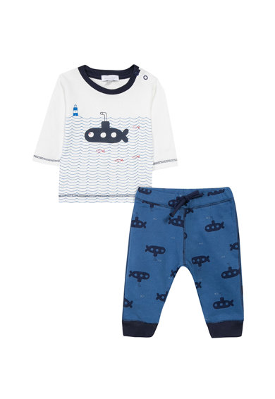 Absorba Set de bluza si pantaloni cu imprimeu grafic Baieti