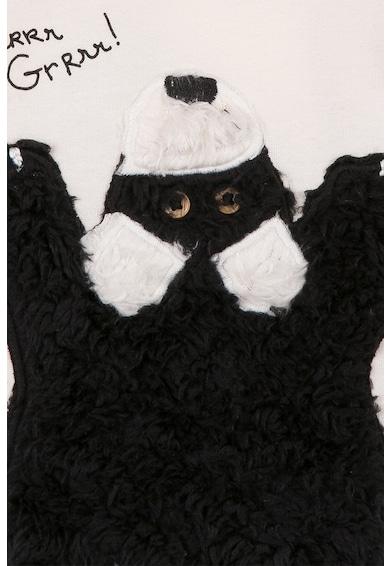 Catimini Bluza cu aplicatie din blana sintetica in forma de urs Baieti