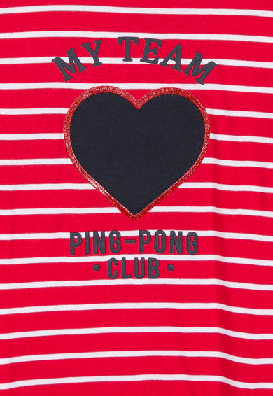 Z Kids Раирана блуза с щампа Момичета